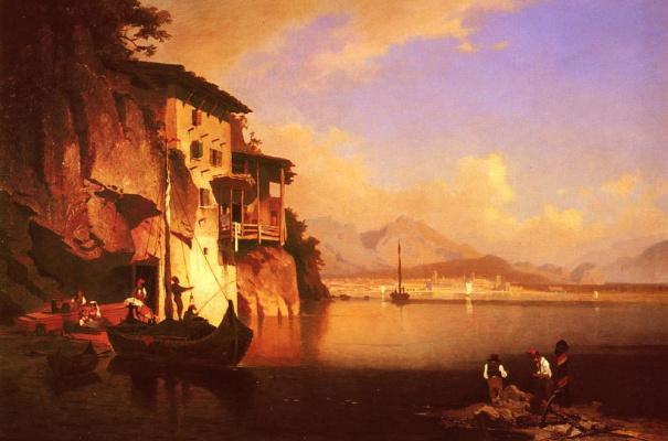 Franz Richard Unterberger. Lake Garda