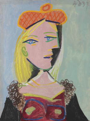 Pablo Picasso. Femme au béret orange et au col de fourrure (Marie-Thérèse)