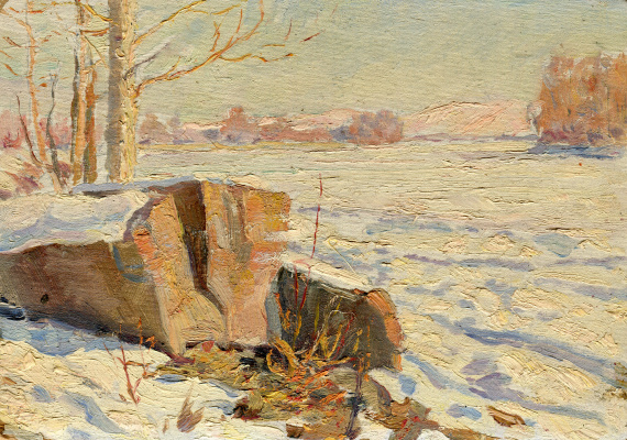 Vasily Fadeevich Demin. Winter sketch