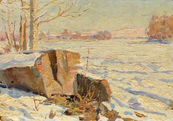 Vasily Fadeevich Demin. Winter sketch