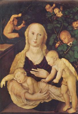 Ханс Бальдунг. Мария в виноградной беседке
