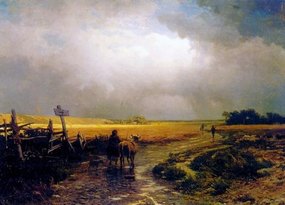 Фёдор Александрович Васильев. После дождя. Проселок