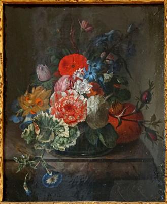 Рашель Рюйш. Цветы на мраморной полке