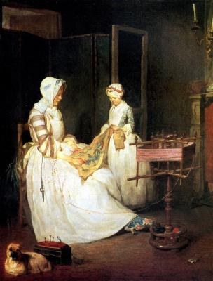 Jean Baptiste Simeon Chardin. Diligent mother