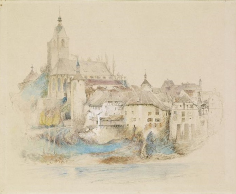 John Ruskin. City Laufenburg on the Rhine