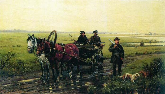 Nikolay Semenovich Samokish. A hunting scene.