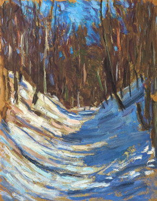Ivan Alexandrovich Chistov. Snow in a ravine