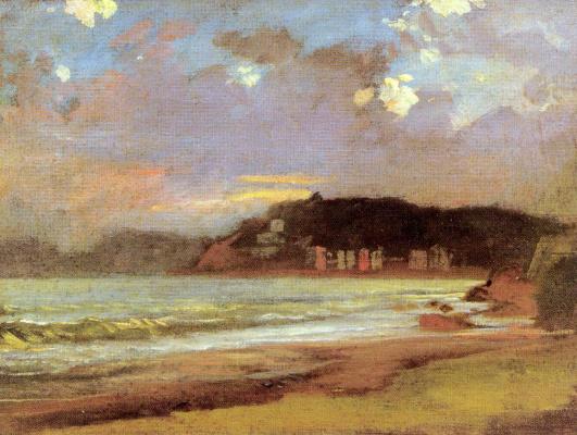 Николай Николаевич Ге. Морской залив в Ливорно. Закат солнца