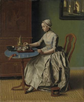 Jean-Etienne Lyotard. Dutch girl at Breakfast