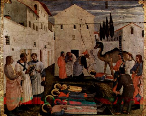 Центральный алтарь святых Косьмы и Дамиана из доминиканского монастыря Сан Марко во Флоренции, основание триптиха, восьмая сцена