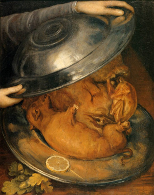Giuseppe Arcimboldo. Still life with a pig (Cook)