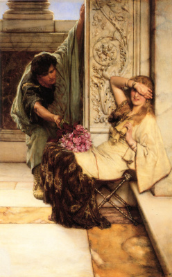 Лоуренс Альма-Тадема. Букет цветов в подарок