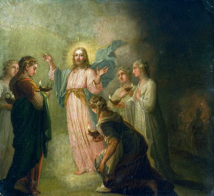 Vladimir Lukich Borovikovsky. The parable of the wise and foolish virgins