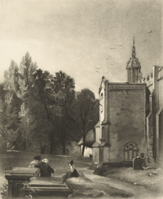 John Constable. The Church Of The East Bergholt