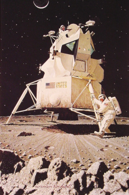 Norman Rockwell. Man on the moon