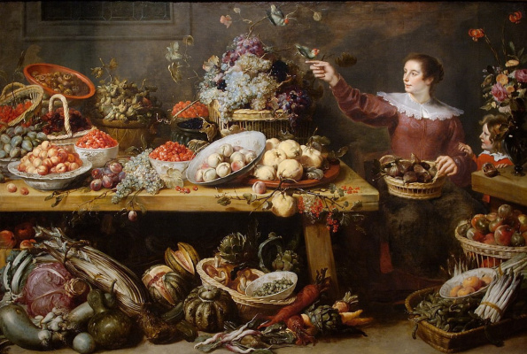 France Snyders. Still life with fruit and vegetables