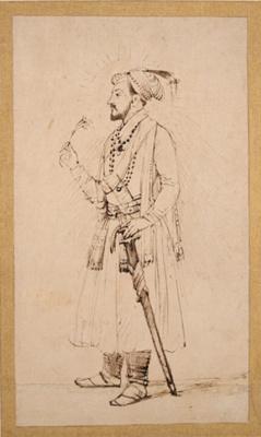 Рембрандт Харменс ван Рейн. Шах Джахан с цветком и мечом