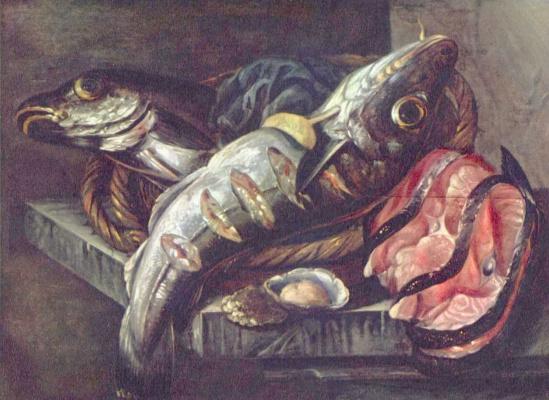 Абрахам Хендрикс ван Бейерен. Натюрморт с рыбой