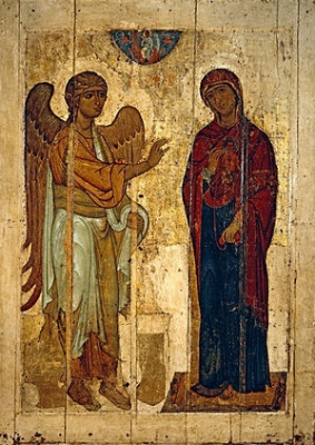 Russian Icon. The Annunciation Of Ustyug