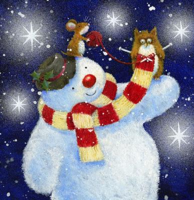 Джен Пэшли. Снеговик, сова и мышь