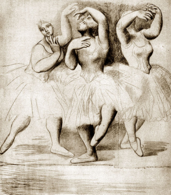 Pablo Picasso. Three dancers
