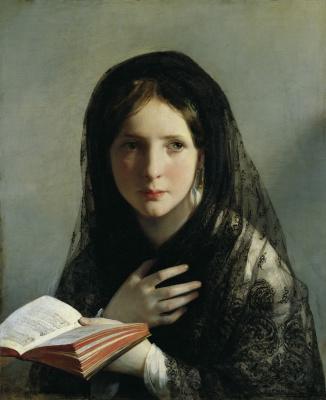 Фридрих фон Амерлинг. Женщина за чтением. 1835
