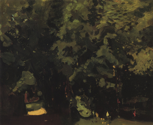 Constantin Somov. Park. Sketch