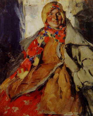 Abram Arkhipov. Female portrait