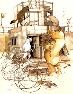 Хелен Охенбуру. Три маленьких волчонка и большой плохой свин 23