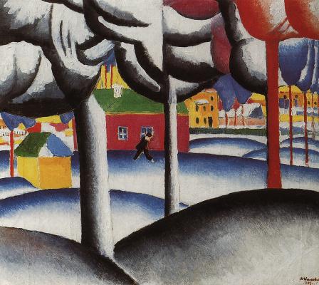 Казимир Северинович Малевич. Зимний пейзаж