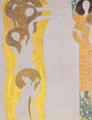 Gustav Klimt. Beethoven Frieze: Art (fragment II)