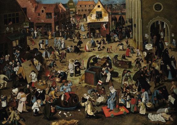 Peter Brueghel The Younger. Battle of carnival and Lent