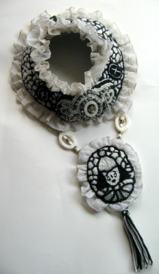 "Tatyana Turanova. Art necklace ""Pierrot"""