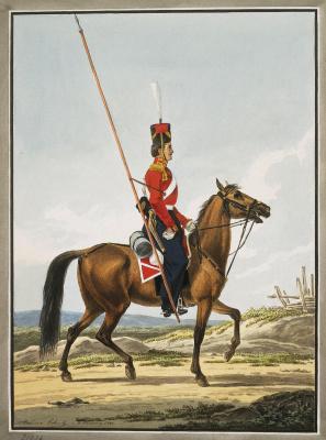 Alexander Osipovich Orel. Ordinary life-guard Cossack regiment