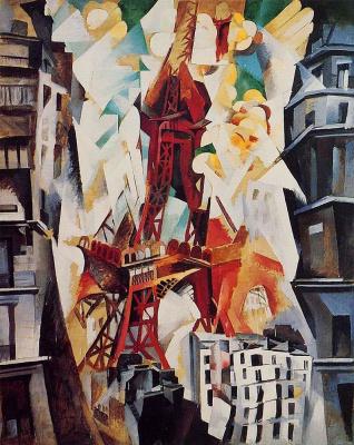 Robert Delaunay. Red tower (Champ de Mars)