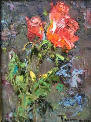 Tuman Art Gallery Tumana Zhumabayeva. Indian roses