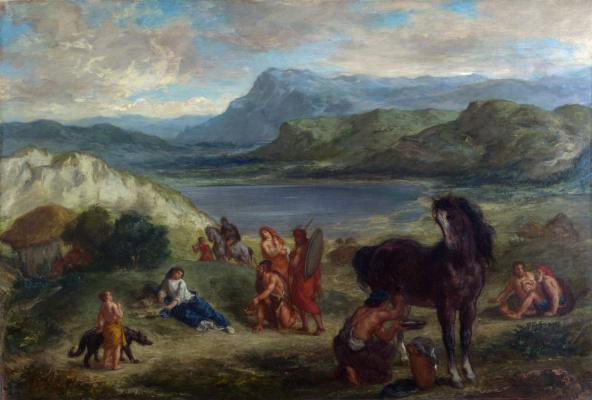 Eugene Delacroix. Ovid among the Scythians
