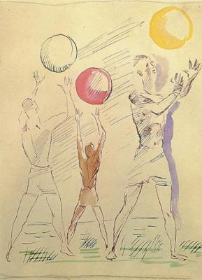 Alexander Alexandrovich Deineka. Three male figures with balls
