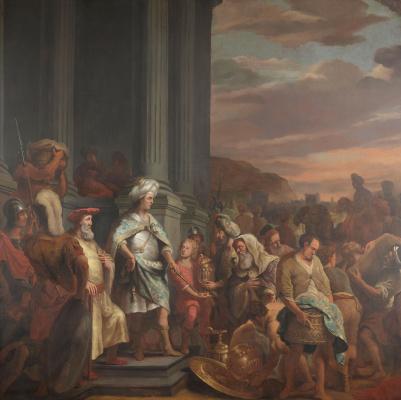 Фердинанд Балтасарс Боль. Царь Кир отдает украденные сокровища Иерусалимского храма