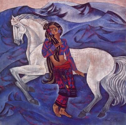 Чжоу Линг. Белый конь