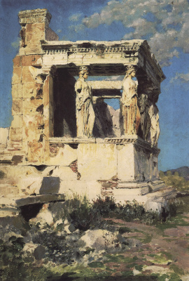 Vasily Dmitrievich Polenov. Erechtheion. The Portico Of The Caryatids