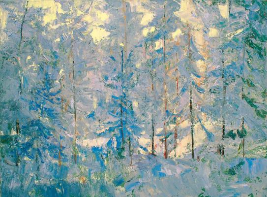 Андрей Александрович Кугаевский. Зимний день в лесу