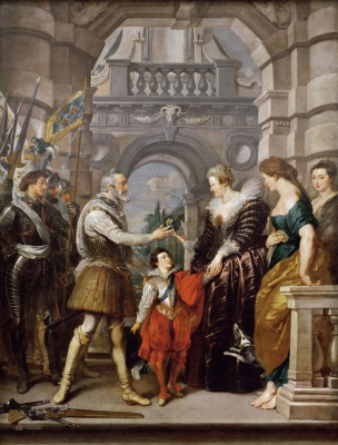 Peter Paul Rubens. The establishment of the Regency of Marie de Medici
