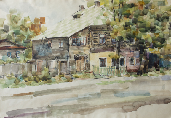 Anatoly Vasilievich Smagin. Rustic house.