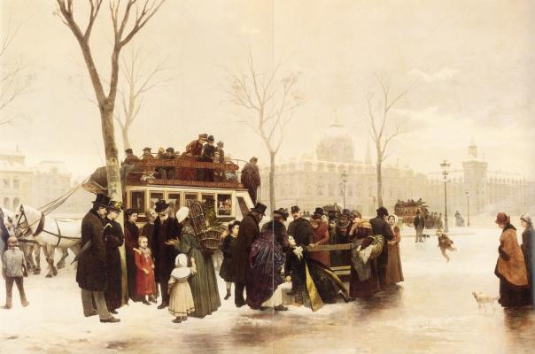 Альфонс Корнет. Нарушение на набережной де Гесврес в Париже