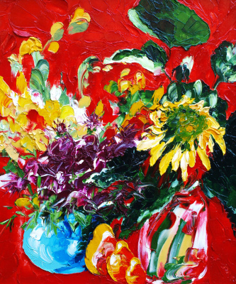 Kandinsky-DAE. Russian still life. Oil on canvas, 50-43, 2005.