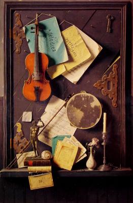 William Michael Harnett. Old wardrobe