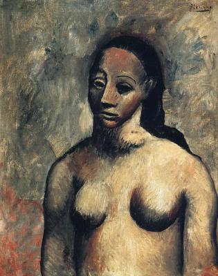Пабло Пикассо. Бюст обнаженной женщины