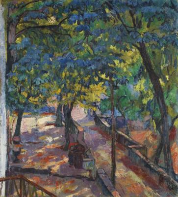 Giovanni Giacometti. Alley chestnut, Bondo, Italy