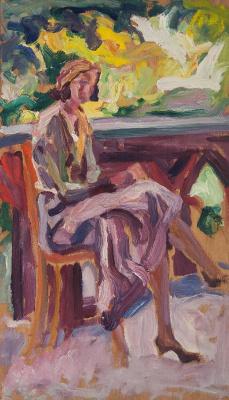 Alexey (Oleksa) Novakovsky. On the balcony